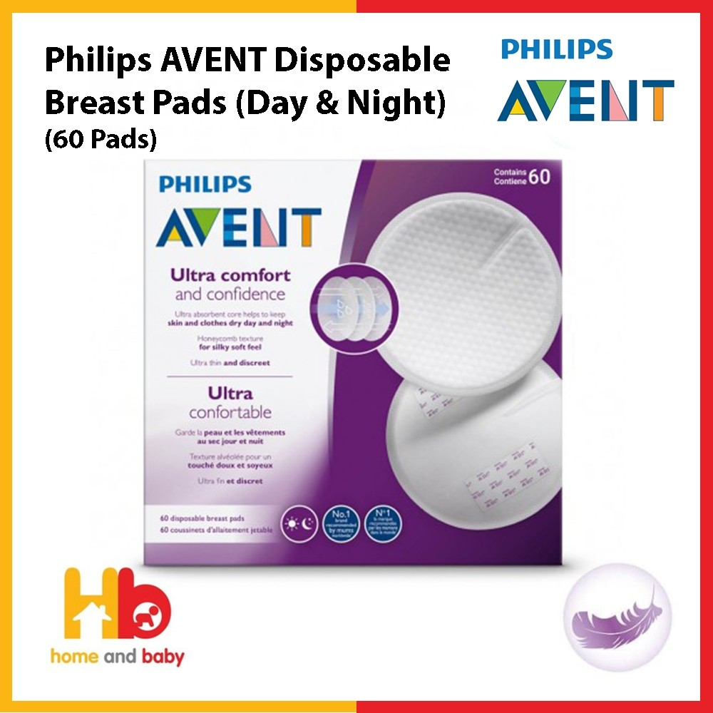 Philips Avent Disposable Breast Pads (60 Pads Day and Night)