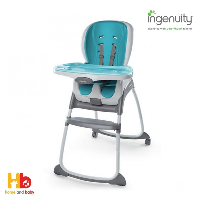 THE INGENUITY™ TRIO 3-IN-1 SMARTCLEAN HIGH CHAIR™ - AQUA