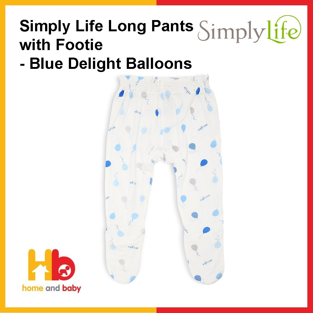 Simply Life Long Pants with Footie - Delight Balloons