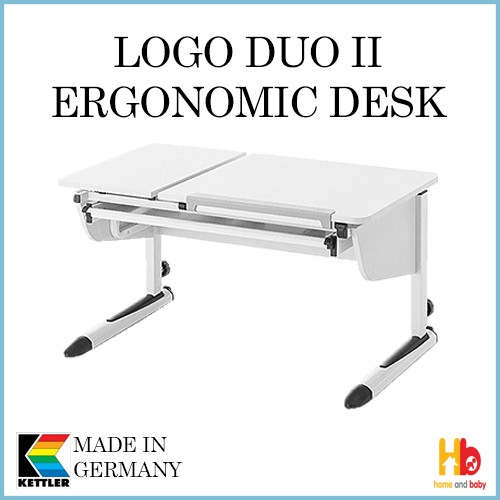 Kettler Germany Logo Duo Ii Ergonomic Desk Table And Chair