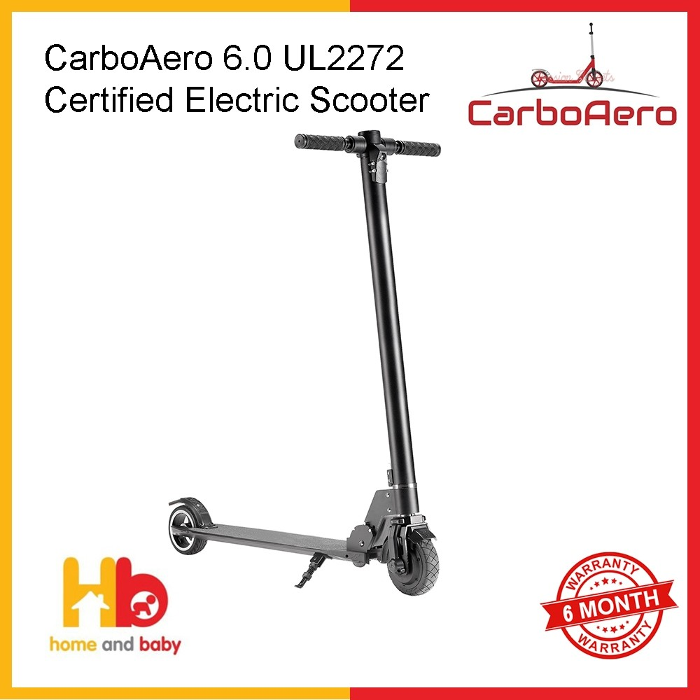 CarboAero 6.0 UL2272 Certified Electric Scooter