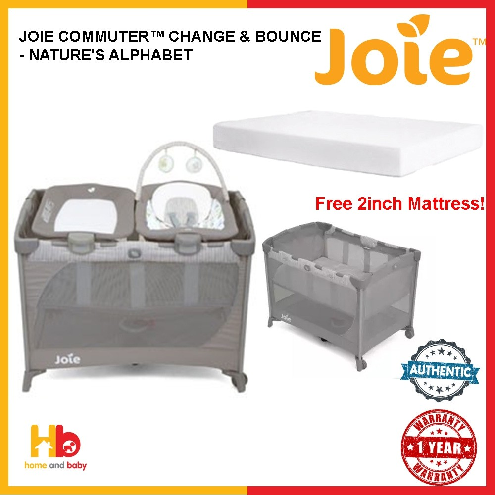 Joie Commuter™ Change & Bounce - Nature's Alphabet FOC: FREE 2INCH MATTRESS