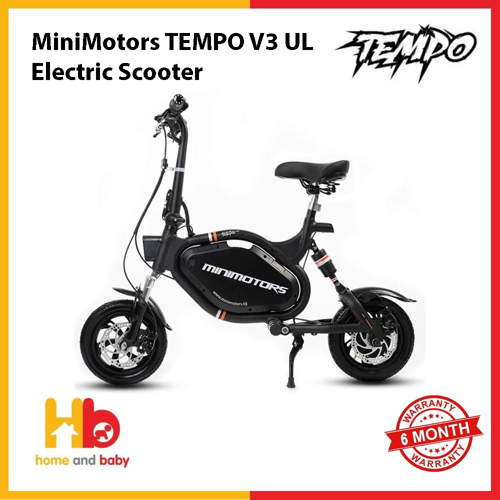 MiniMotors TEMPO V3 UL2272  Electric Scooter (STOCK AVAILABLE SINCE 23 AUG 2019 )
