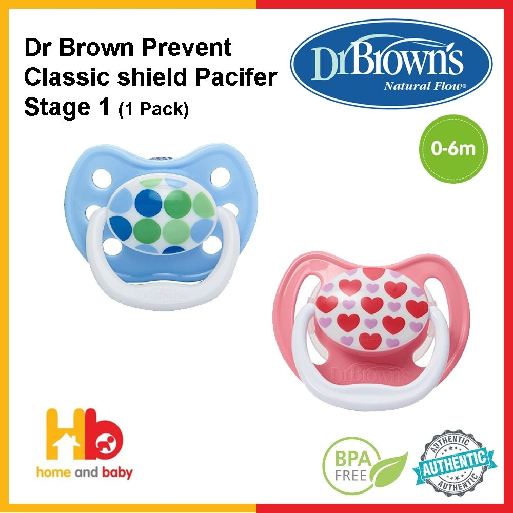 DR BROWN'S PREVENT CLASSIC SHIELD PACIFIER 1 PACK-STAGE 1 (0-6M)