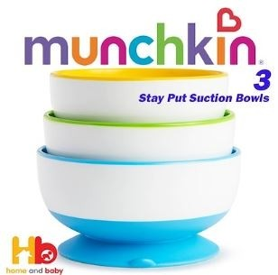Munchkin Stay Put Suction Feeding Bowls (Set of 3)