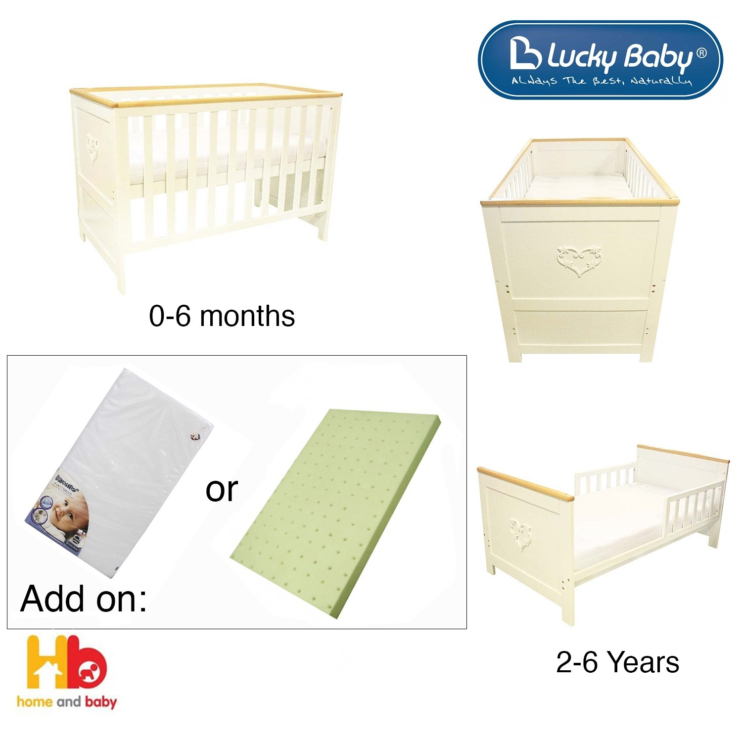 Lucky Baby - JEWEL™ Convertible Cot
