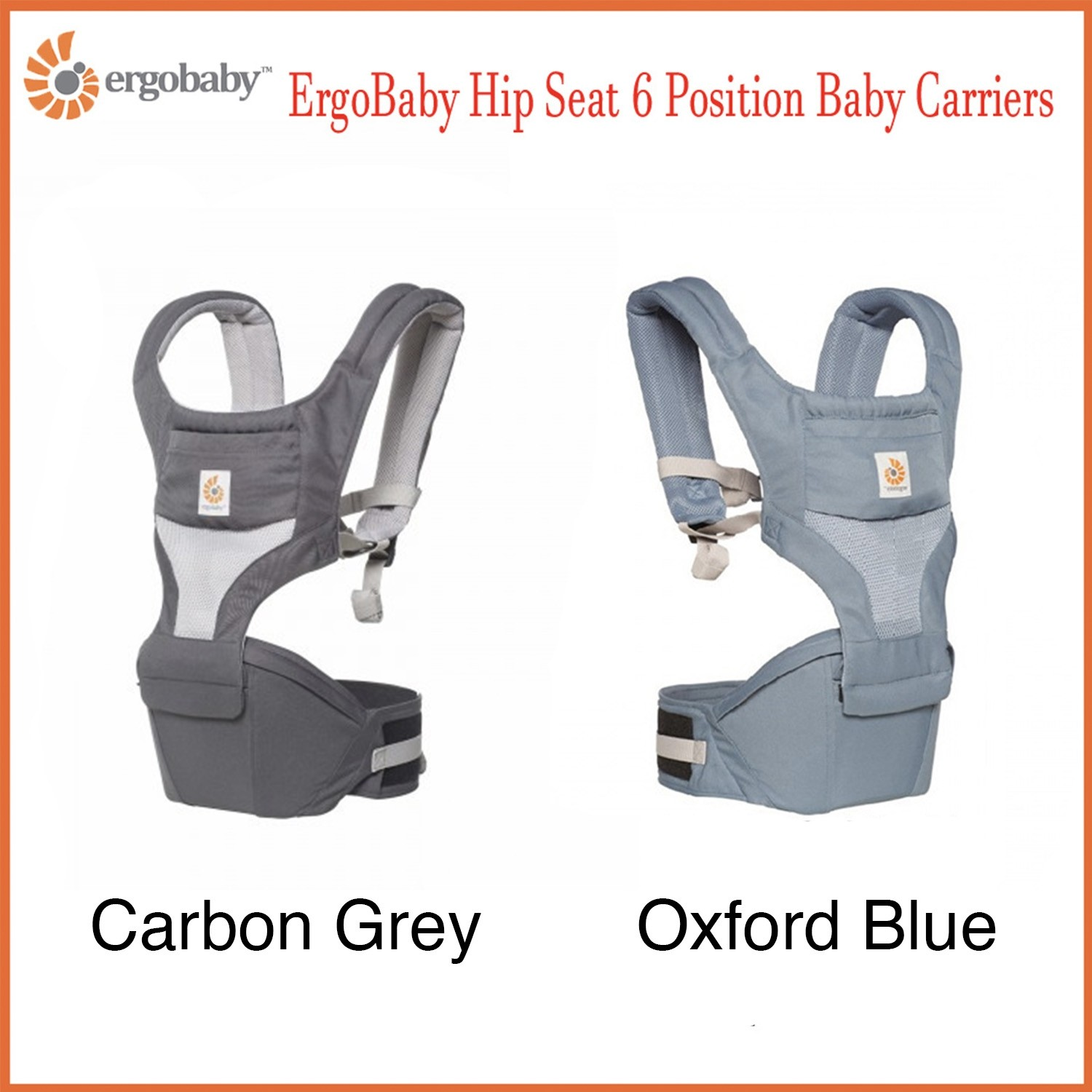 896fc3cba74 Ergobaby Hipseat 6 Position Baby Carriers (Cool Air Mesh)